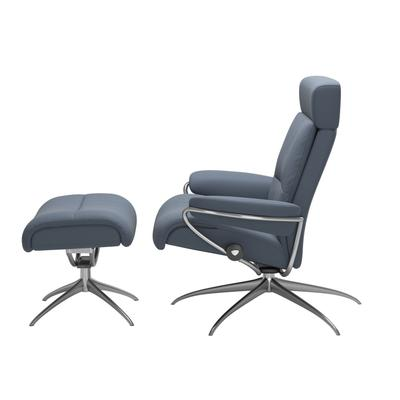 See Details - Stressless® Tokyo Star Adjustable headrest Chair with Ottoman