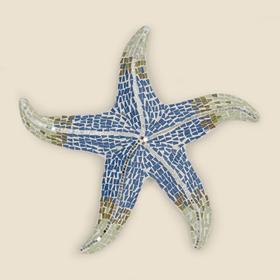 Large Blue & White Mosaic Starfish Wall Hanging