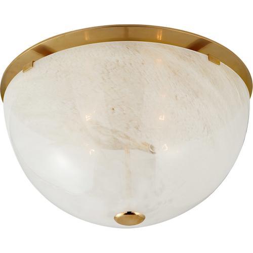 AERIN Serein 4 Light 18 inch Hand-Rubbed Antique Brass Flush Mount Ceiling Light, Large