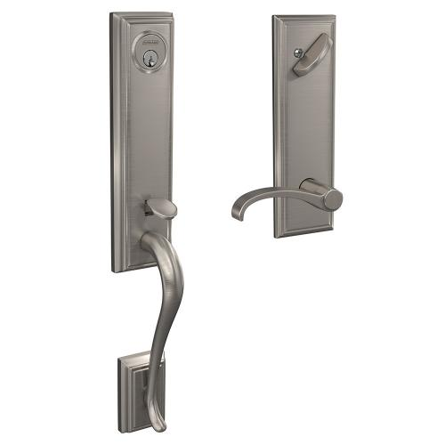 Custom Addison 3/4 Trim Single Cylinder Handleset with Whitney Lever - Aged Bronze