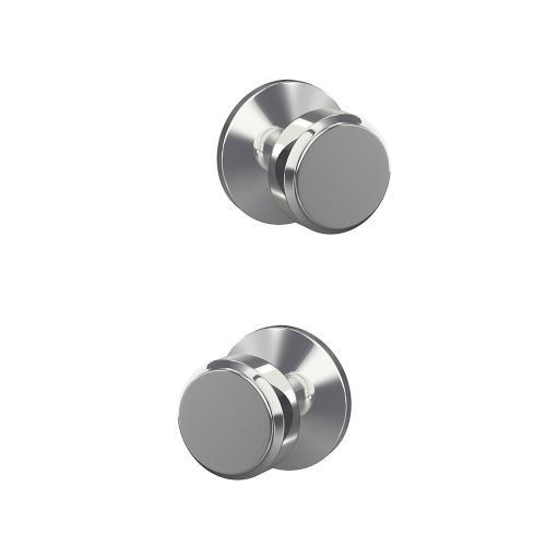 Custom Bowery Knob with Kinsler Trim Hall-Closet and Bed-Bath Lock - Bright Chrome