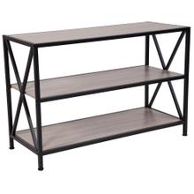 Sonoma Oak Wood Grain Finish Bookshelf with Metal Frame