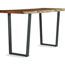 """See Details - Live Edge 36"""" Bistro Height Metal Trapezoid Base (base Only)"""