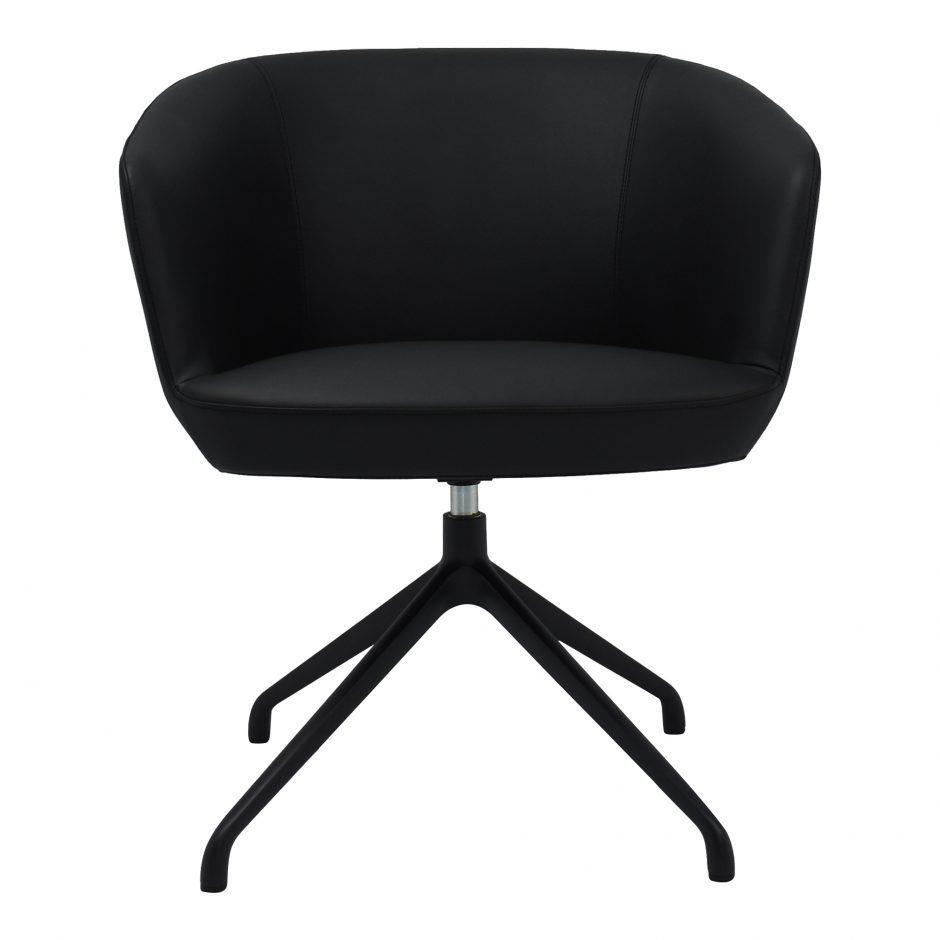 See Details - Gibson Swivel Chair Black