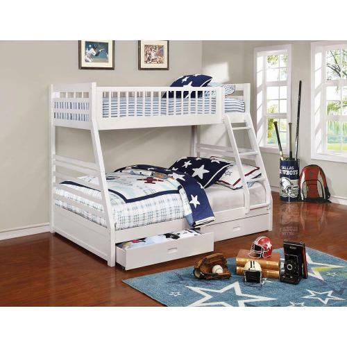 Coaster - Ashton White Twin-over-full Bunk Bed
