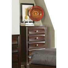 Jaxson Transitional Cappuccino Five-drawer Chest