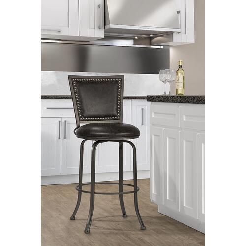 Gallery - Belle Grove Commercial Grade Swivel Counter Stool - Charcoal