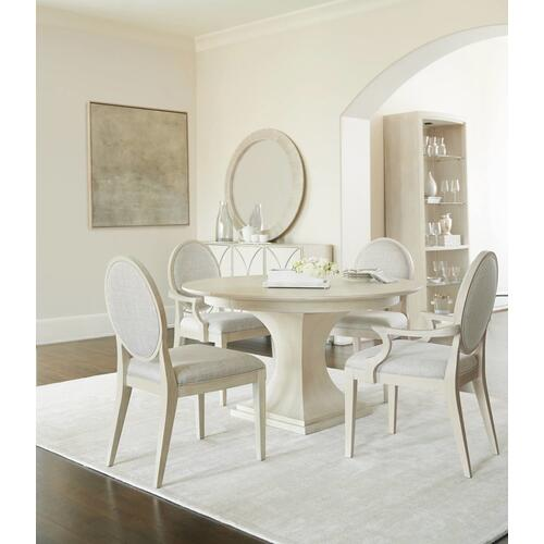 East Hampton Round Dining Table in Cerused Linen (395)