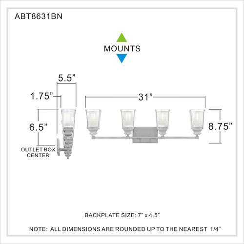 Quoizel - Abbott Bath Light in Brushed Nickel