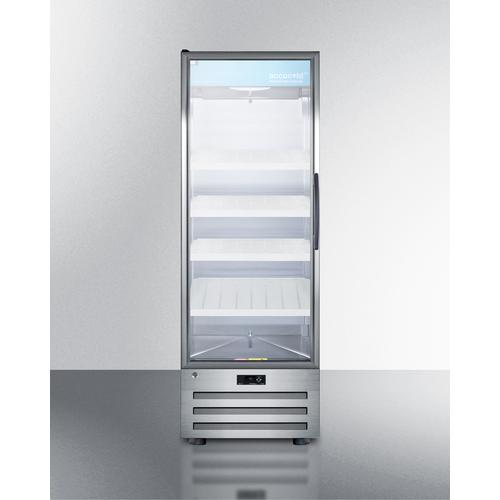 View Product - 14 CU.FT. Pharmaceutical All-refrigerator With A Glass Door, Lock, Digital Thermostat, and A Stainless Steel Interior and Exterior Cabinet