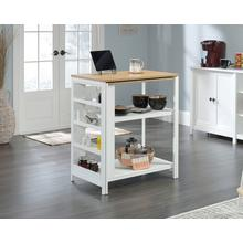 See Details - Wood and Metal Kitchen Island with Storage