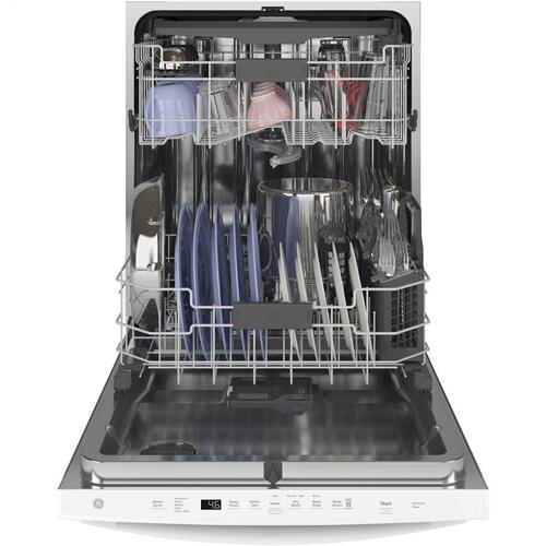 Product Image - GE® Top Control with Stainless Steel Interior Dishwasher with Sanitize Cycle & Dry Boost with Fan Assist