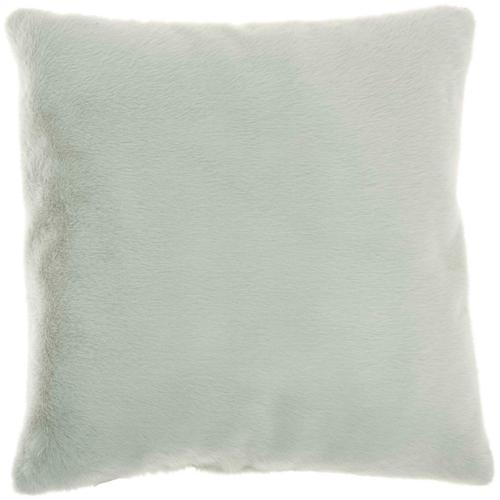 """Faux Fur Ap100 Celadon 20"""" X 20"""" Throw Pillow"""