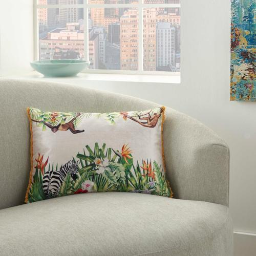 """Life Styles Ac230 Multicolor 14"""" X 20"""" Throw Pillow"""