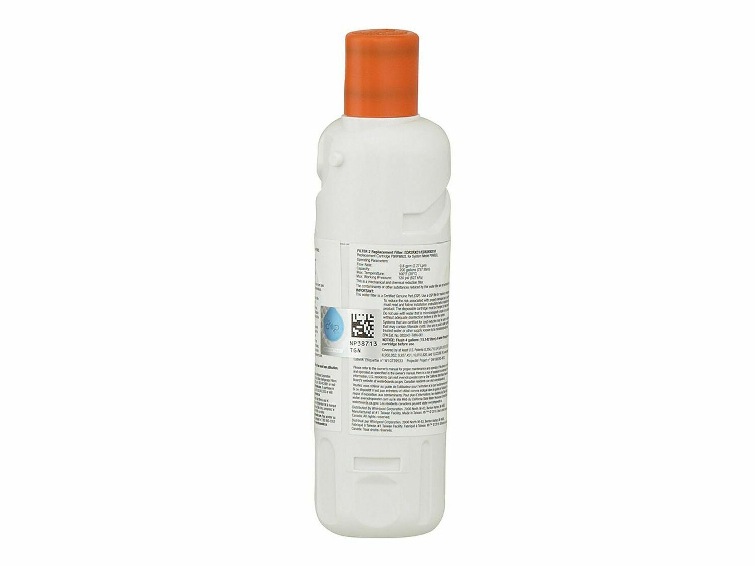 Edr2rxd1whirlpool Everydrop Refrigerator Water Filter 2 Edr2rxd1 Pack Of 1 Judd Black