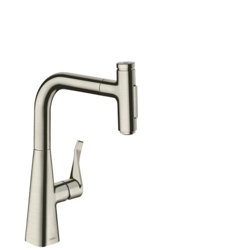 Steel Optic Prep Kitchen Faucet, 2-Spray Pull-Out with sBox, 1.75 GPM