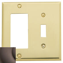 Venetian Bronze Beveled Edge GFCI / Single Toggle Combo