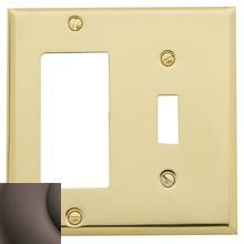 View Product - Venetian Bronze Beveled Edge GFCI / Single Toggle Combo
