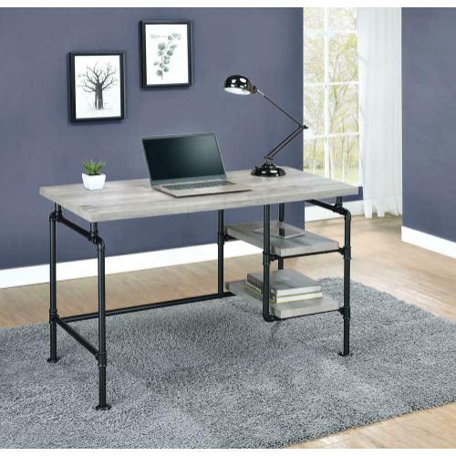 Delray Driftwood Gray Writing Desk