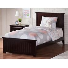 Nantucket Twin XL Bed with Matching Foot Board in Espresso
