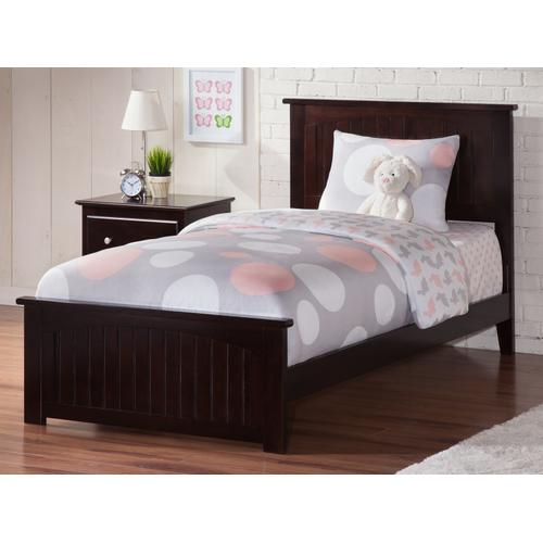 Atlantic Furniture - Nantucket Twin XL Bed with Matching Foot Board in Espresso