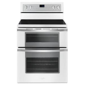 6.7 Cu. Ft. Electric Double Oven Range with True Convection - WHITE ICE