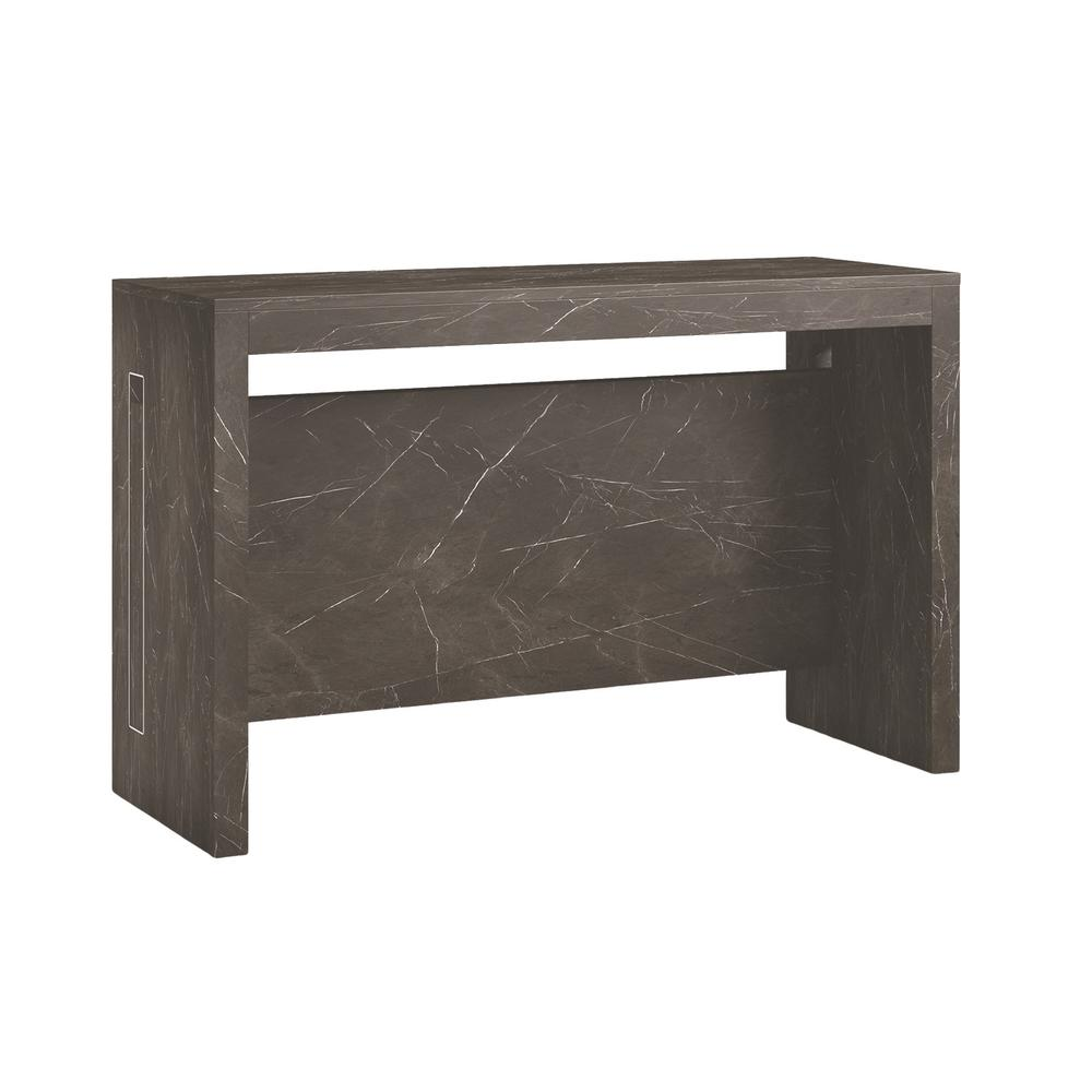 The Elasto Extendable Console Table In Black Marbled Grain Melamine