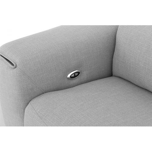 VIG Furniture - Divani Casa Cyprus - Contemporary Grey Fabric 3-Seater Sofa w/ Electric Recliners