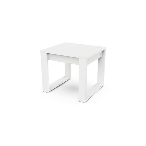 White EDGE End Table