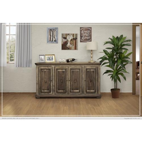 Gallery - 4 Wooden Doors Console