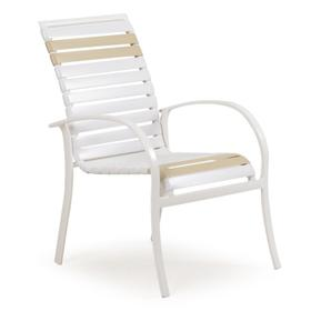 Stackable Dining Arm Chair (Pebble)