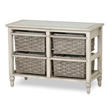 4-Basket Horizontal Storage Cabinet - Two Toned Gray Finish