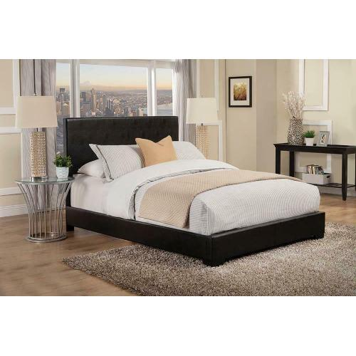 Conner Casual Black Upholstered Eastern King Bed