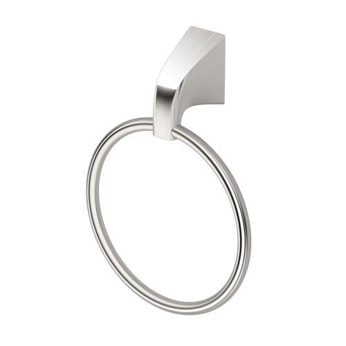 Quantra Towel Ring in Satin Nickel