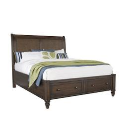 6/6 King Storage Bed - Sable Finish