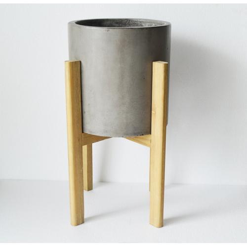 Gallery - Modrest Polk Modern Concrete Round Planter