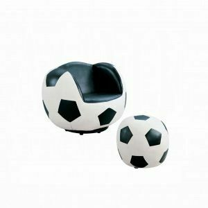 ACME All Star 2Pc Pack Chair & Ottoman - 05525 - Soccer: White & Black