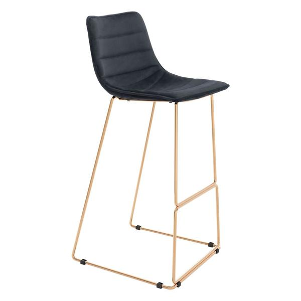 See Details - Adele Bar Chair Black & Gold