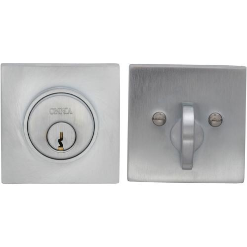 Square Auxiliary Deadbolt Kit in (US26D Satin Chrome Plated)