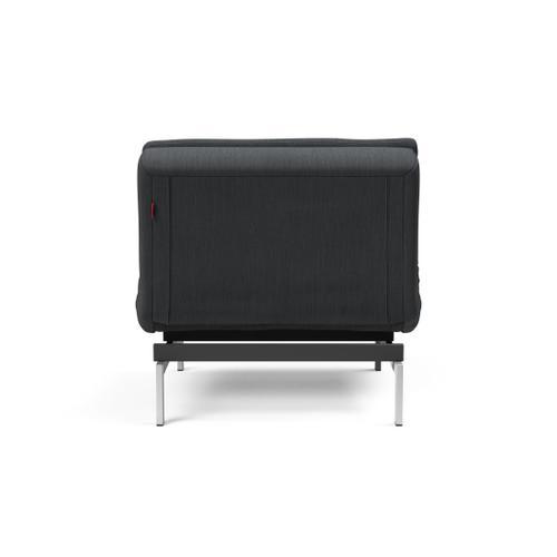 DUBLEXO CHAIR/SP CHAIR LEGS, STAINLESS STEEL/BLACK