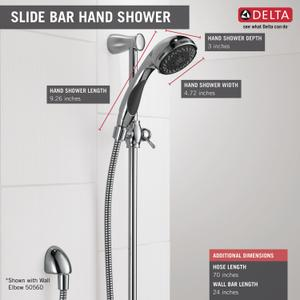 Chrome Premium 3-Setting Slide Bar Hand Shower Product Image