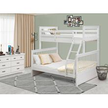 Twin & Full Bunk Bed in White Finish