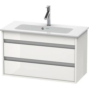 Vanity Unit Wall-mounted Compact, White High Gloss (decor)
