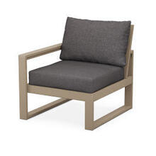 EDGE Modular Left Arm Chair in Vintage Sahara / Ash Charcoal
