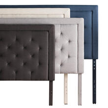 Rectangle Diamond Tufted Upholstered Headboard Queen Charcoal