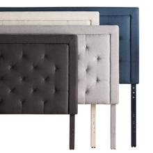 Rectangle Diamond Tufted Upholstered Headboard Queen Stone