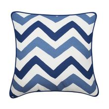 Welton Decorative 100% Cotton Throw Cushion - Blue