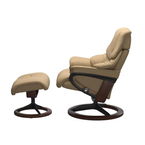 Stressless By Ekornes - Stressless® Reno (M) Signature chair with footstool