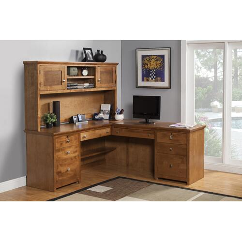 "O-S641 Shaker Oak 72"" Desk & Return"