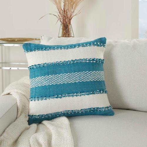 """Outdoor Pillows Vj088 Turquoise 18"""" X 18"""" Throw Pillow"""